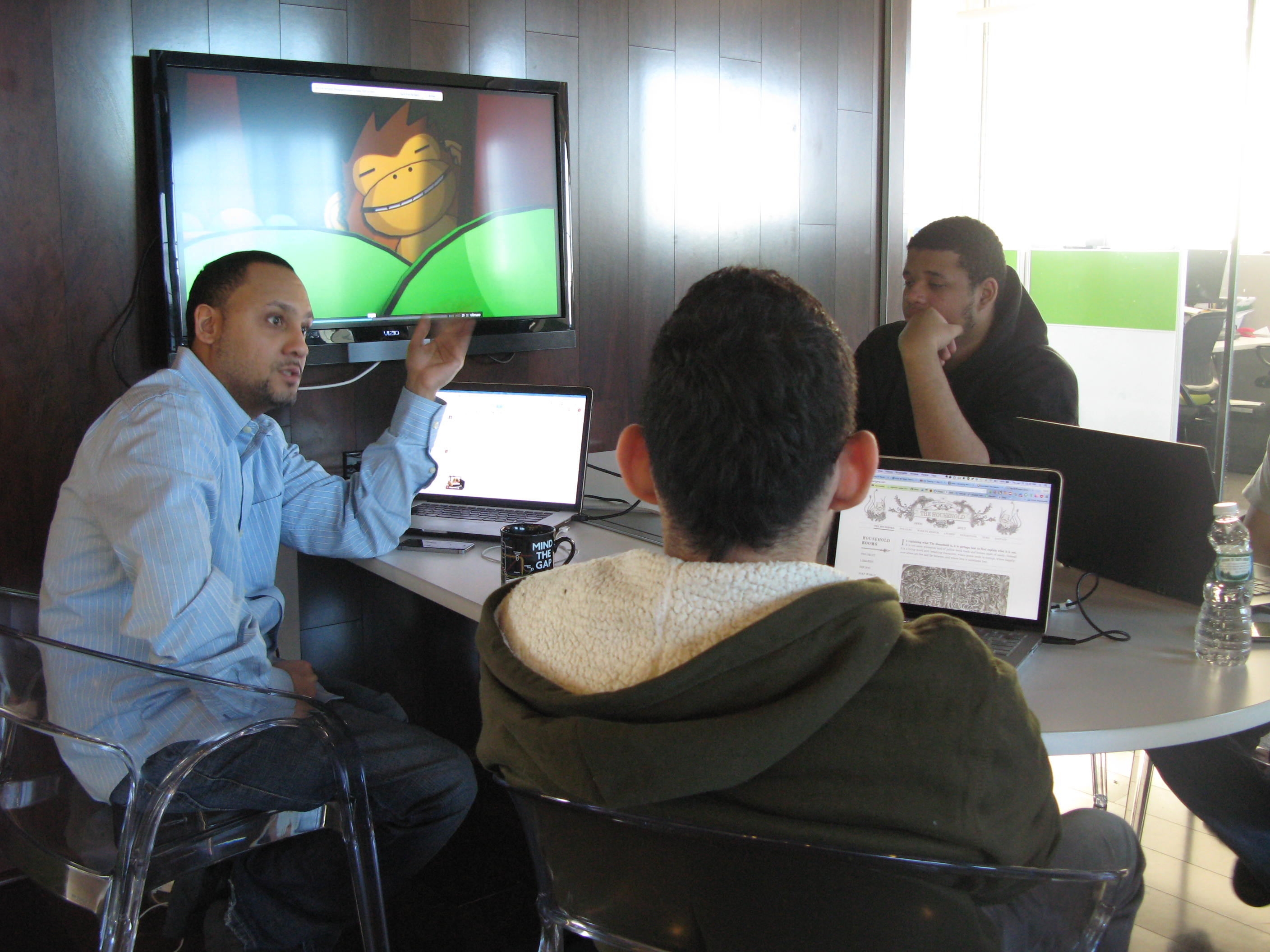 Tech businesses show students the ropes