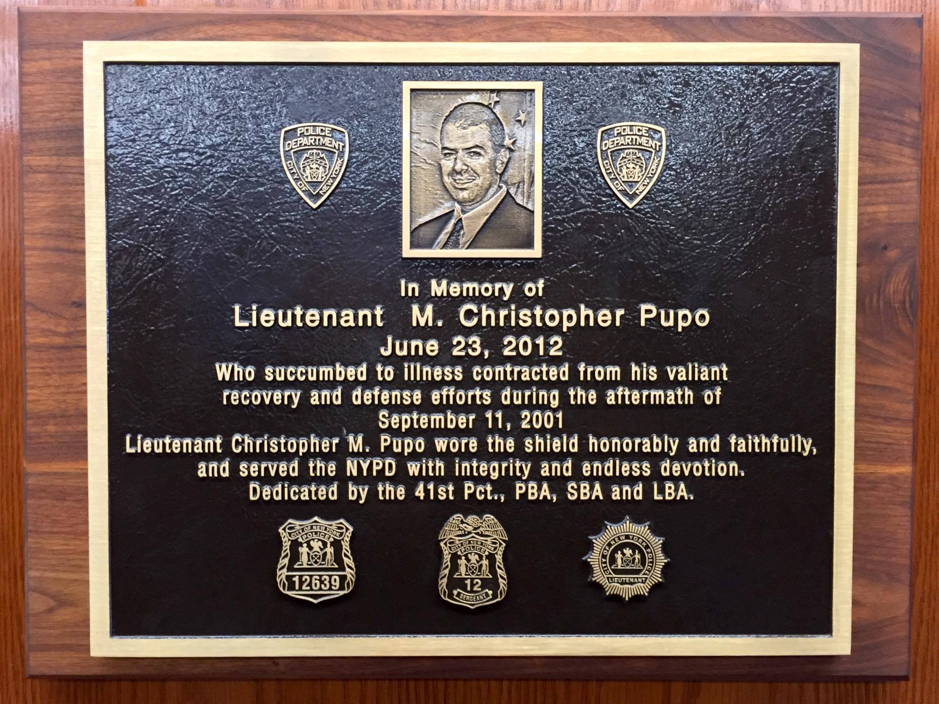 Cop who died in 9/11 cleanup memorialized