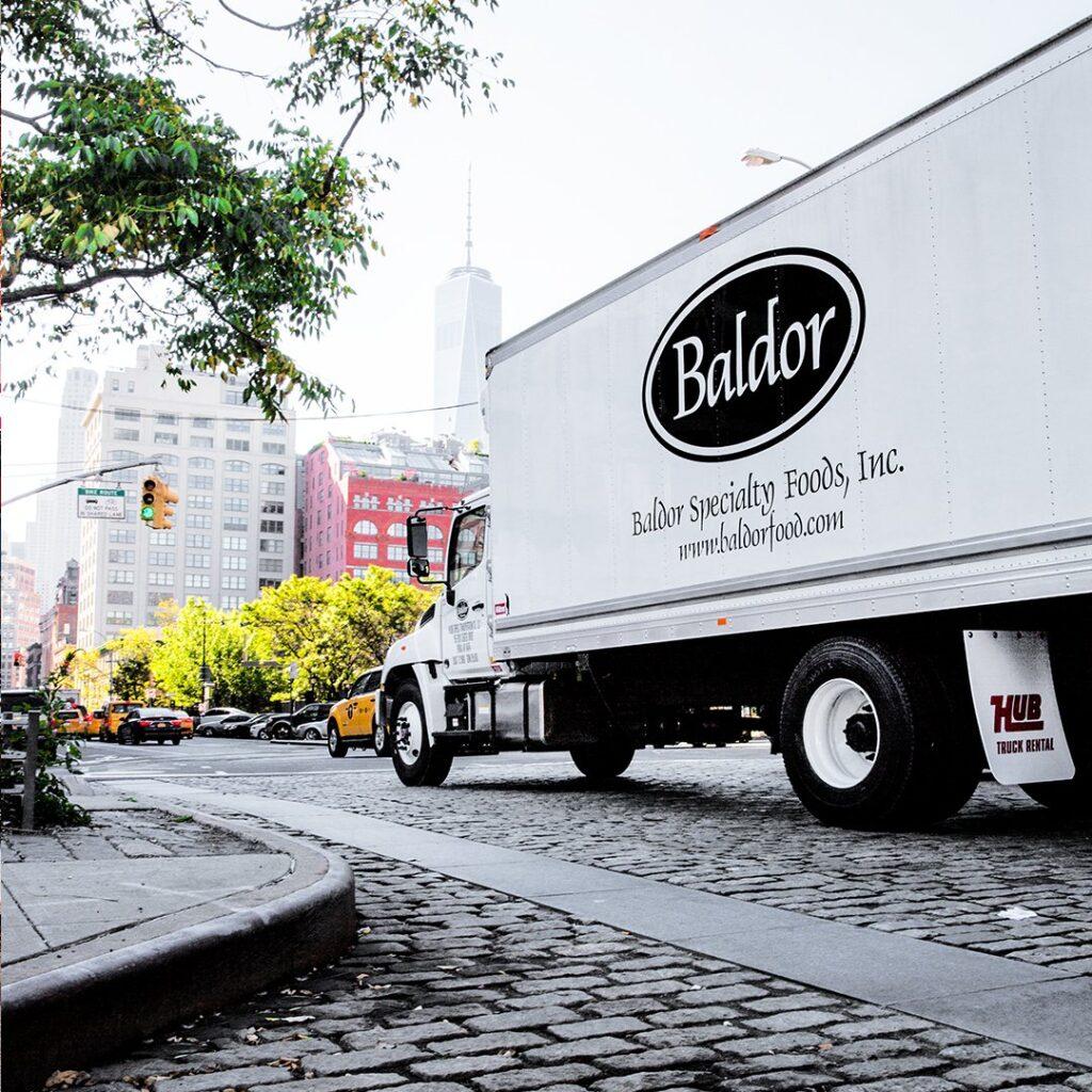 A Baldor Specialty Foods truck.