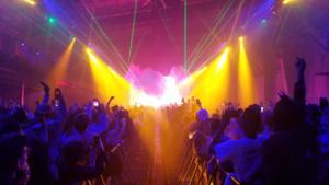 Travis Scott concert at New York Expo Center.