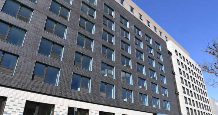 What sets this Bruckner Boulevard apartment building apart